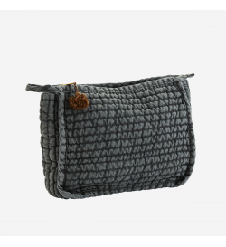 QUILTED LINEN CLUTCH W/...