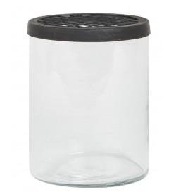 Glass jar w/net cover - IB...