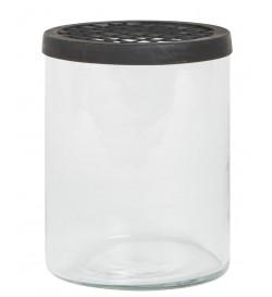 Vase avec couvercle quadrillé