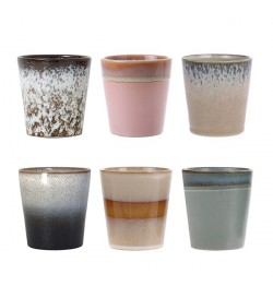 Ceramic 70's cup set of 6-...