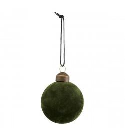 Green velvet hanging...