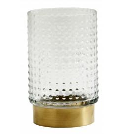 RING vase w. dots, brass...
