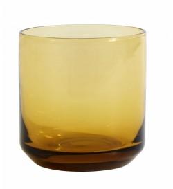 Verre à eau ambré