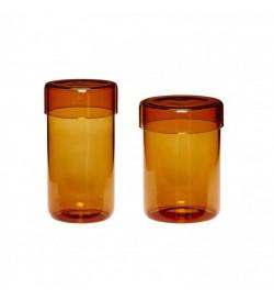 Storage jar w/lid, glass,...