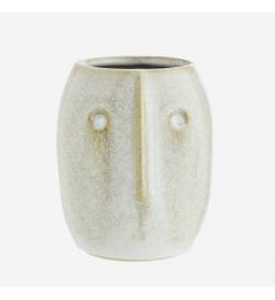 Petit vase visage sculpté