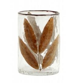 Photophore ou vase feuille