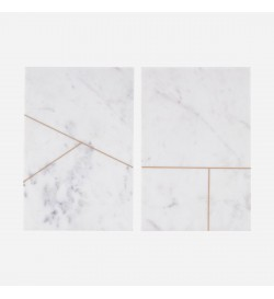 Set of 2 Plates, Marble,...