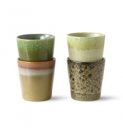 Ceramic Spring's cup set of 4