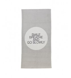 Rug w/print, 'Smile Breathe...