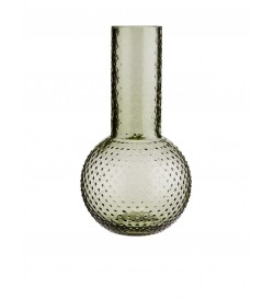 GLASS VASE W/ DOTS- Madam...
