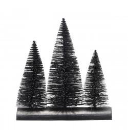 Sapins noirs décoratifs -...