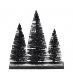 Sapins noirs décoratifs