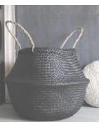 Petits paniers artisanaux, ambiance bohème, petit rangement décoratif
